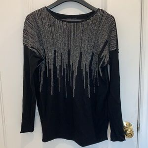 Sarah Pacini Embellished Sweater Size O/S